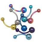 Farbige Titanbanane mit zwei Kugeln