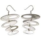 Ohrhänger mit vier Ovalen 925 Silber im Retro-Look