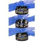 Partnerringe aus Edelstahl schwarz PVD beschichtet glatt mit einer geteilten Wunschgravur