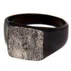 Siegelring aus Edelstahl mit schwarzer PVD Beschichtung und Ihrem persönlichen Fingerabdruck
