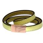 Echtlederarmband hellgrün Verschluss Edelstahl rose gold, mit individueller Gravur