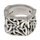 KoolKatana Ring aus Edelstahl mit keltischem Knoten Design