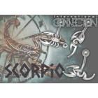 Bauchnabelpiercing 1.6x10mm Chirurgenstahl, Schmaler Stilisierter Skorpion aus 925 Silber