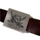Gürtelschnalle rechteckig aus mattiertem Edelstahl mit individueller Gravur