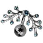 Upper Stab gebogen 925*Design aqua w.8mm ball