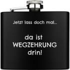 Der Unauffällige: Flachmann gross aus Edelstahl schwarz PVD-beschichtet 169.8ml