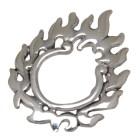 Brustclip aus 925 Sterling Silber mit einem Flammen Design