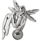 Bauchnabel Piercing mit nackter Elfe - sie ruht sich aus